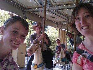 Interns on carousel