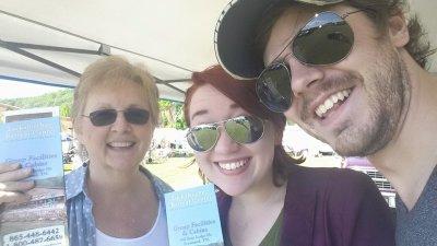 Sarah, Ruth, and David D at Festival.