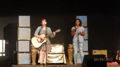 Sarah and Capree at benefit concert.